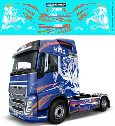 1/50 Volvo FH4 Lion Limited Edition Decals TB Decal TBD412