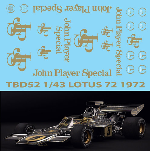 1/43 Lotus 72 John Player Special Decals