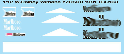 1/12 WAYNE RAINEY YAMAHA YZR500 1991 TBD163