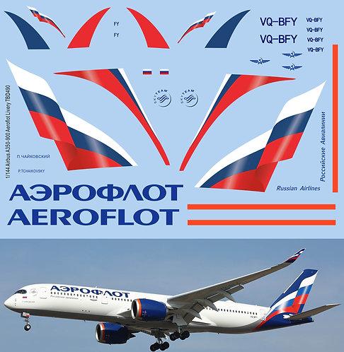 1/144 Decals x Airbus A350-900 Aeroflot Livery Decals TBD490