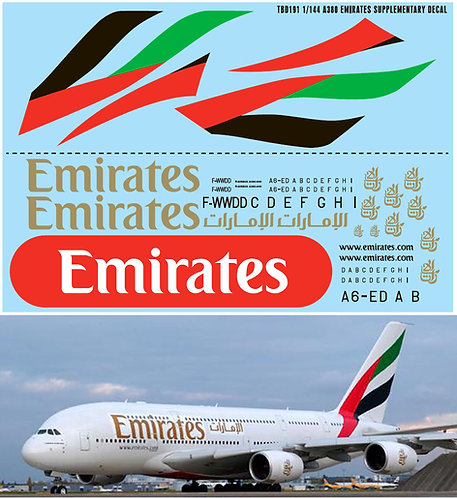 1/144 AIRBUS A380 EMIRATES AIRLINES REVELL TBD191