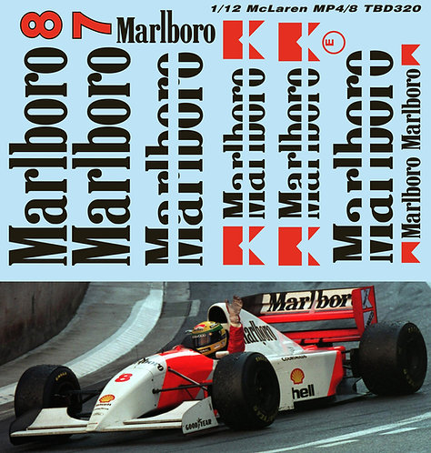 1/12 McLaren MP4/8 1993  FOR MFH MODEL FACTORY HYRO  DECALS TB DECAL TBD320