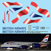 1/144 BRITISH AIRWAYS AIRBUS A380 800 LIVERY  DECALS  TB DECAL TBD77
