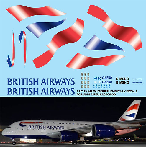 1/144 BRITISH AIRWAYS AIRBUS A380 800  TBD77