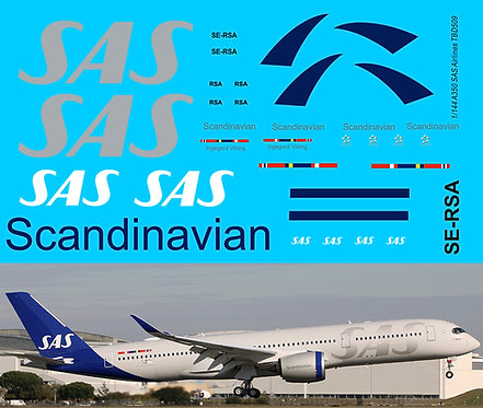 1/144 Decals for Airbus A350 900 SAS Scandinavian Airlines TBD509