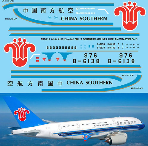 1/144 AIRBUS A 380 CHINA SOUTHERN  REVELL  TBD225