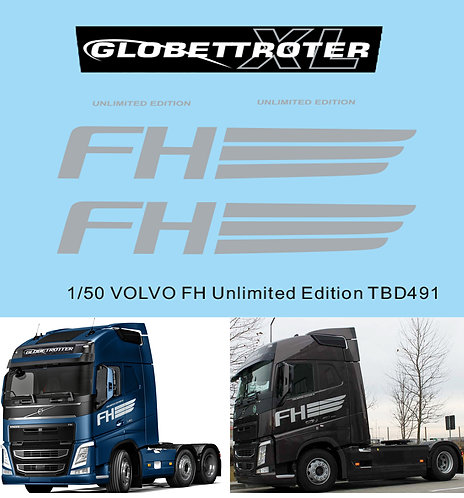 1/50 Decals X VOLVO FH Globetrotter Unlimited Edition TB Decal  TBD491