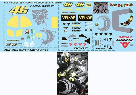 1/12  VALENTINO ROSSI  FIGURE VALENCIA 2012 TBD149
