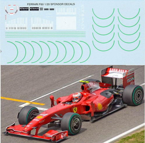 1/20 FERRARI F60 BARCODE FOR TAMIYA KIT TBD10