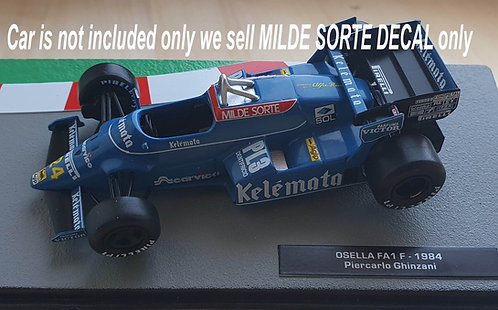1/43 MILDE SORTE MISSING DECAL FOR F1 OSELLA FA1 F 1984 TB DECAL TBD470