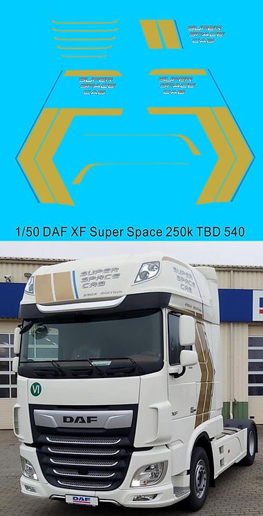 1/50 Decals DAF XF Super Space 250K TB Decals TBD540
