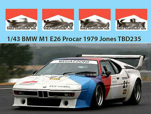 1/43 BMW M1 E26 PROCAR 1979 JONES MISSING TBD235