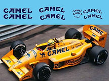 1/43 CAMEL LOTUS 99T 1987 SENNA CA SPONSOR DECALS TB DECAL TBD56