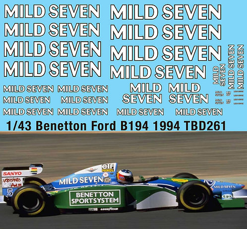 1/43 Benetton Ford B194 1994 Mild Seven Michael  Schumacher World 261TBD