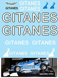 1/43 GITANES FOR LIGIER FORD JS11 1979 P DEPAILLER J ICKX DECALS TB DECAL TBD99