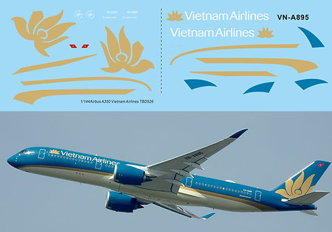 1/144 Decals for Airbus A350 Vietnam Airlines TB Decal TBD526