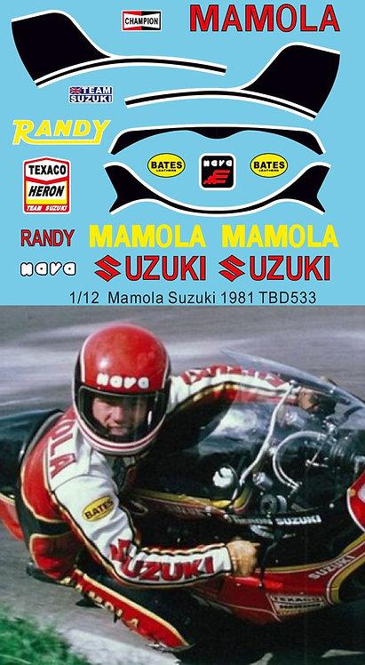 1/12  Randy Mamola  Rider Figure Race Suit Suzuki 1981 TBD533