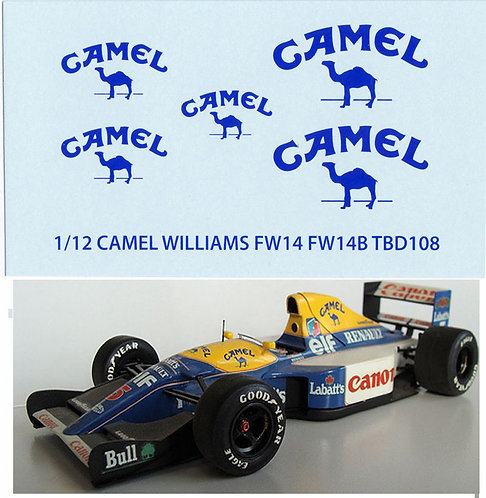 1/12  CAMEL WILLIAMS RENAULT FW14  TAMIYA  TBD108