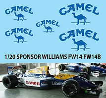 1/20 Camel Decal For Williams FW14 FW14B FW15 FW15C DECALS TB DECAL TBD73