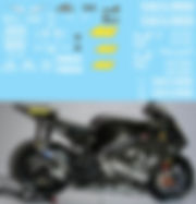 1/12 GAULOISES VALENTINO ROSSI TEST BIKE YAMAHA M1 2005 DECALS TB DECAL TBD86