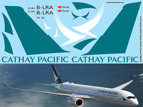 1/144 Airbus A350  Cathay Pacific Livery Decals TB Decal TBD276