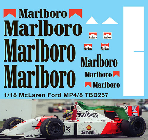 1/18 McLaren Ford MP4/8 1993 Decals TB Decal TBD257