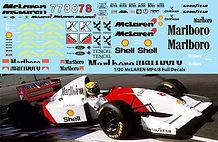 1/20 MARLBORO McLaren MP4/8  TAMIYA SENNA ANDRETTI HAKKINEN DECALS TB DECAL TBD68