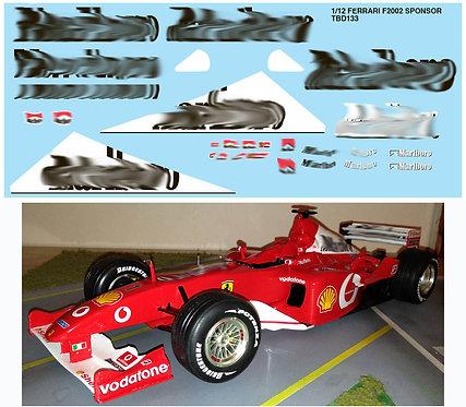 1/12 FERRARI F2002 F1 SPONSOR FOR REVELL TBD133