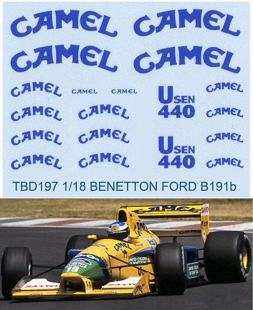 1/18  BENETTON FORD SPONSOR B191B 1992 TBD197