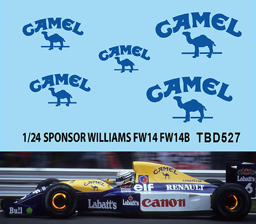 1/24 Camel Decals For Williams FW14 FW14B FW15 FW15C DECALS TB DECAL TBD527
