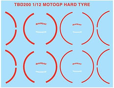 1/12 MOTOGP HARD TYRE DECALS & ALL MOTO GP HONDA YAMAHA DUCATI TIRE DECAL TBD200