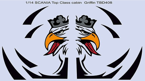1/14 Scania Top Class Cabin Griffin Decals TB Decal TBD408