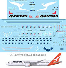 1/144 QANTAS LIVERY  BOEING 787  787-8 DECALS TB DECAL TBD84