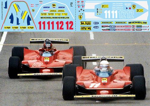 1/12 Decals Ferrari 312 T4 1979 Villeneuve Scheckter Decal TBD545