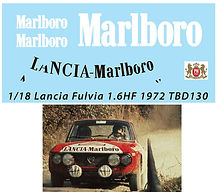 1/18 MARLBORO SPONSOR  LANCIA FULVIA 1.6HF 1972 RALLY SANREMO DECALS TB DECAL TBD130