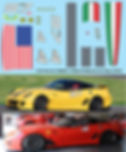 1/43 FERRARI 599XX RACE 2010 MIAMI VALENCIA  HOTWHEELS DECALS TB DECAL TBD100