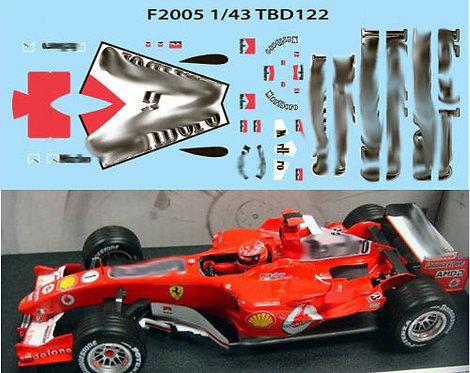 1/43 FERRARI F1 F2005 2005 SCHUMACHER 1/43 TBD122