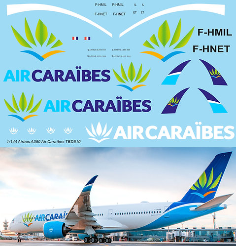 1/144 Decals for Airbus A350 Air Caraibes livery TB Decal TBD510
