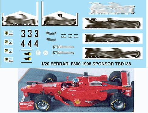 1/20  FERRARI F300 1998 SPONSOR  SCHUMACHER TBD138