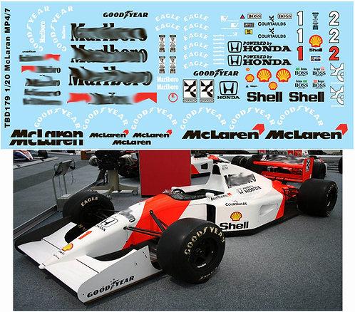 1/20 McLaren MP4/7 AYRTON SENNA TAMIYA  TBD179