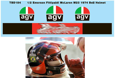 1/2 EMERSON FITTIPALDI  BELL MCLAREN M23 TBD184
