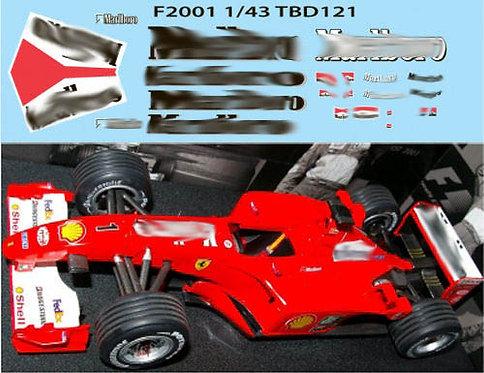 1/43  FERRARI F1 F2001 2001 M SCHUMACHER TBD121