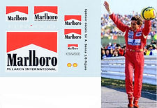 1/6 MARLBORO DECAL AYRTON SENNA SPONSOR  FIGURE 1993 JAPAN DECALS TBDECALS  TBD13