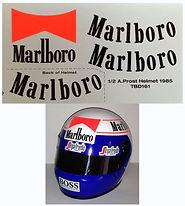 1/2 MARLBORO  ALAIN PROST HELMET 1985 SPONSOR DECALS TB DECAL TBD161