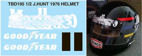 1/2 JAMES HUNT HELMET 1976  FOR BELL  TBD195