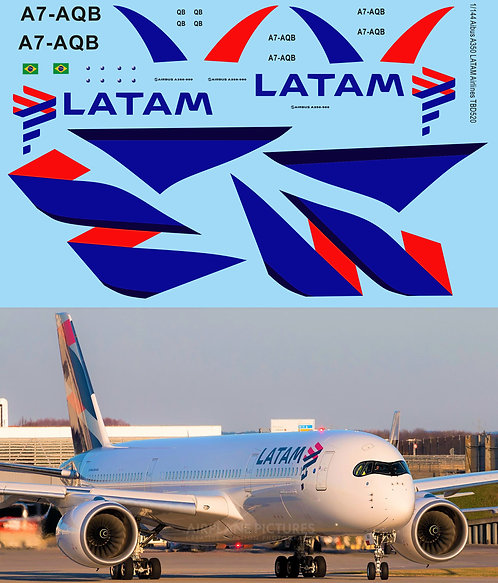 1/144 Decals for Airbus A350 LATAM Airlines TB Decal TBD520
