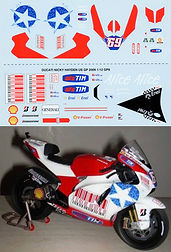 1/12  NICKY HAYDEN USA DUCATI GP9 2009 DECALS TB DECAL TBD20