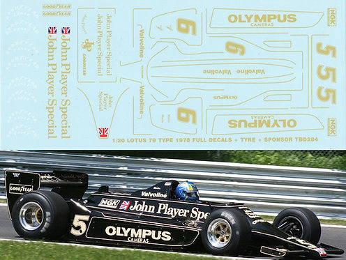 1/20 Lotus Type 79 1978  Full Decals Good Year John Player Special Decal TBD284