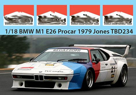 1/18 BMW M1 E26 PROCAR 1979 JONES MISSING TBD234