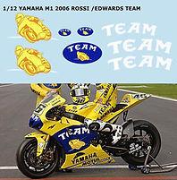 1/12 YAMAHA M1 2006 CAMEL TEAM  VALENTINO ROSSI DECALS TB DECAL TBD38